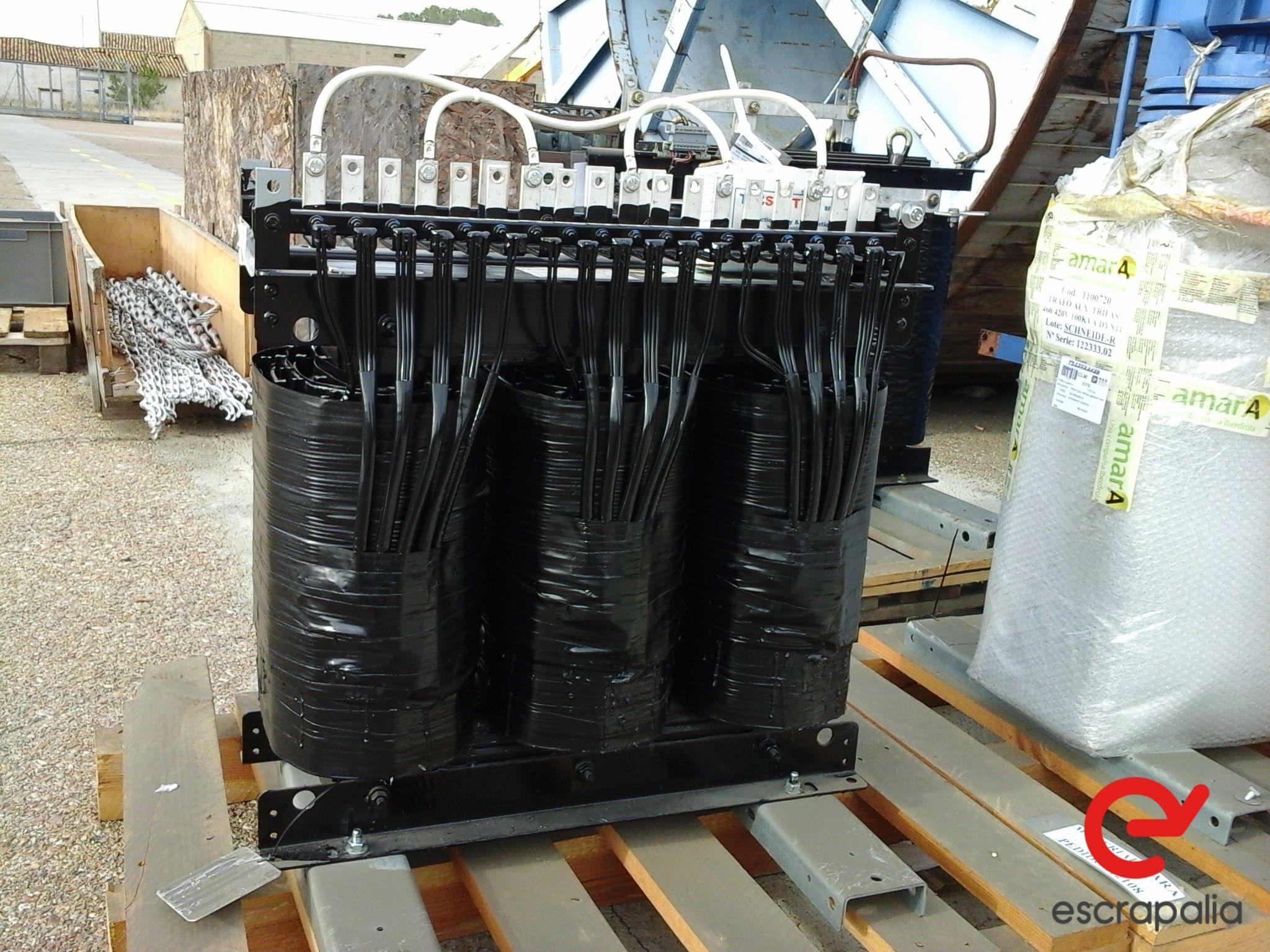 5 Transformatoren von 100 und 500 KVA - 7.000 kg