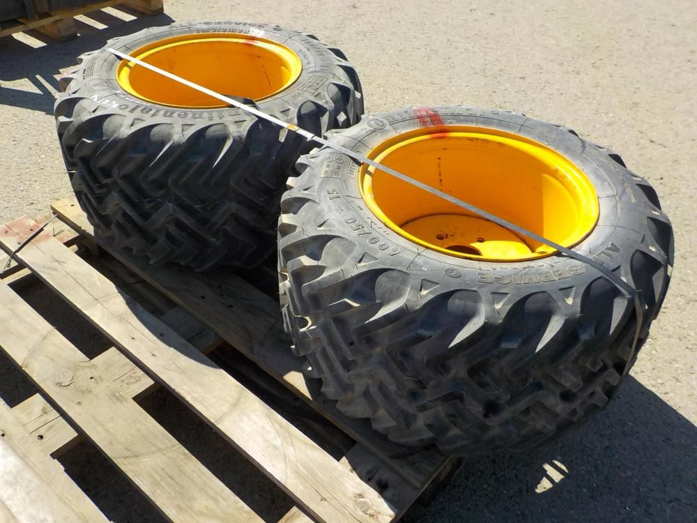 400 / 50-15 Reifen & amp; Felgen passend für JCB (2 von)