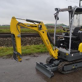 Unused Wacker Neuson EZ17 200mm Pads, Blade, Offset, Piped c/w Expanding Undercarriage - WNCE1301CPAL01513
