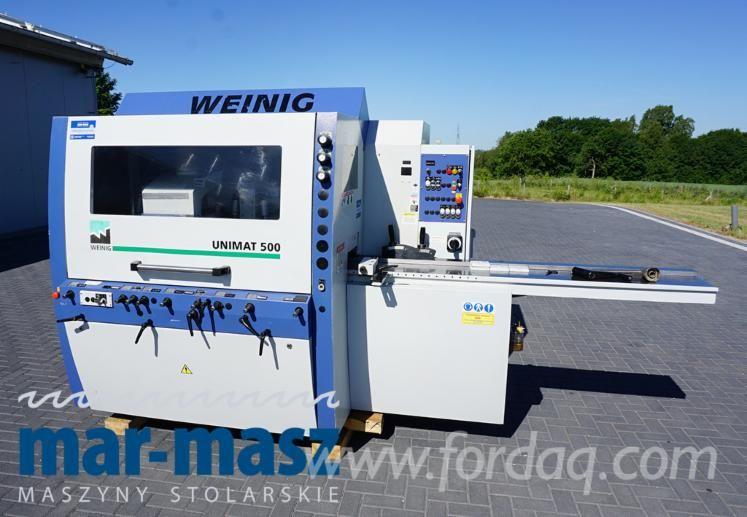 Vierseitenhobelmaschine WEINIG UNIMAT 500, 5 Köpfe