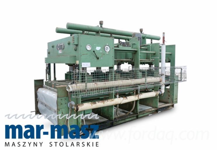 OTT D99 Durchlaufpresse für die Sperrholzherstellung, Warmwasserbereitung