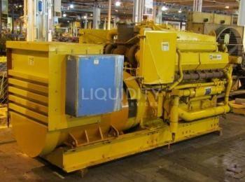 Caterpillar Modell D349 SRCR-Generatorsatz, sn 600TH3166, Rahmen Nr. 687, Leistung: 750 KW Standby,