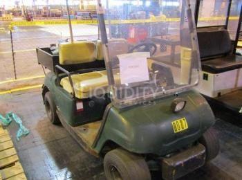 2ea. Elektrische Golfwagen, 1ea. Columbia ParCar, Fahrgestellnummer U4SC3-3ZF0122, 3.004 Betriebsstu
