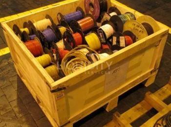 1ea. Kiste mit elektrischen Drahtspulen, Abmessungen 36 x 48 x 36 Zoll, (Best.-Nr. 3319521), Loc. B