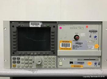 Hewlett Packard 70950B Optischer Spektrumanalysator Ser. 3727A01253 mit Hewlett Packard 70004A Farbs