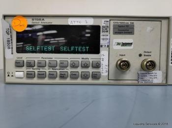 Agilent 8156A Optischer Abschwächer Ser. 3328G09525 (Anlagen-ID: A01678), - - Die Sammlung von Waren