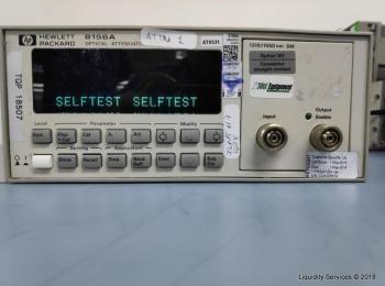 Hewlett Packard 8156A Optischer Abschwächer Ser. 3328G05574 (Anlagen-ID: A01669), - - Sammlung für W