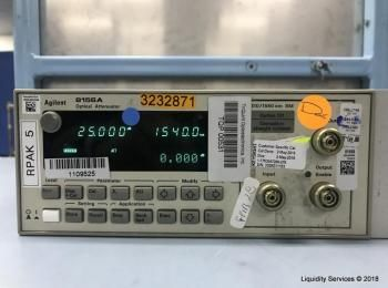 Agilent 8156A Optischer Abschwächer Ser. 3328G11153 (Asset ID: A07230), - - Die Sammlung von Waren i