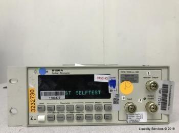 Agilent 8156A Optischer Abschwächer Ser. Nr. 3328G09971 (Anlagen-ID: A01778), - - Die Sammlung von W