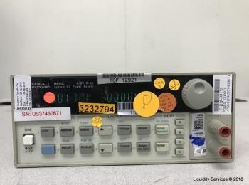 Hewlett Packard 6611C System Gleichstromversorgung Ser. US37450671 (Anlagen-ID: A01697), - - Sammlun