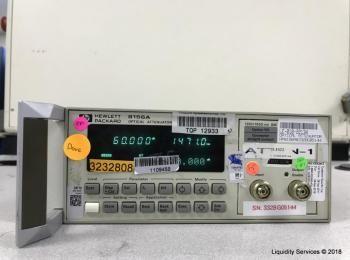 Hewlett Packard 8156A Optischer Abschwächer Ser. 3328G05144 (Anlagen-ID: A01807), - - Sammlung für W