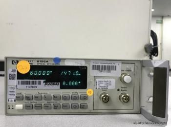 Hewlett Packard 8156A Optischer Abschwächer Ser. 3328G04838 (Anlagen-ID: A04944), - - Sammlung für W
