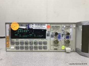 Hewlett Packard 8153A Lichtwellenmultimeter Mainframe Ser. 2946G12993 Mit: Hewlett Packard 81536A Le