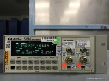 Hewlett Packard 8153A Lichtwellenmultimeter Mainframe Ser. 2946G15739 Mit: Hewlett Packard 81536A Le