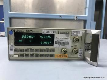 Hewlett Packard 8156A Optischer Abschwächer Ser. 3328G02959 (Anlagen-ID: A07203), - - Sammlung für W