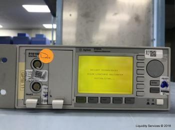 Agilent 8163A Lichtwellenmultimeter Ser. DE38700868 Mit: Agilent 81619A Optisches Schnittstellenmodu