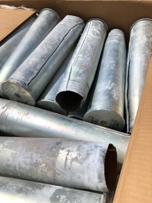 1395 lbs (ca.) Fired Steel 105mm Gehäuse in einer Tri-Wall-Boxen / w Palette enthalten, die im Verka