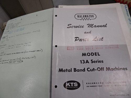 1 - Kalamazoo M / D 13AW Horizontale Metallbandsäge mit variabler Geschwindigkeit