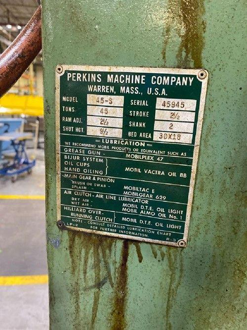 1 - Perkins 45-S Punch Gap Frame Press