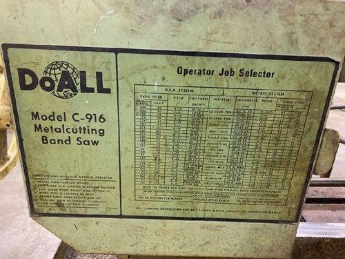 1 - DoAll C-916 Horizontalbandsäge