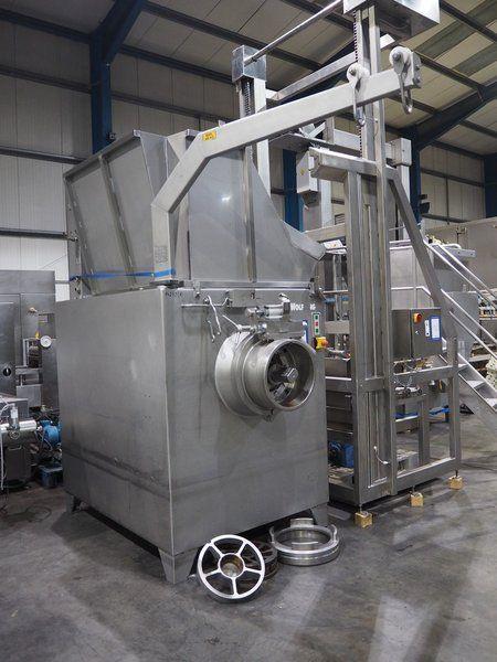 Kombination: Wolfking-Mühle mit Syspal KG Lifter für Palettenboxen