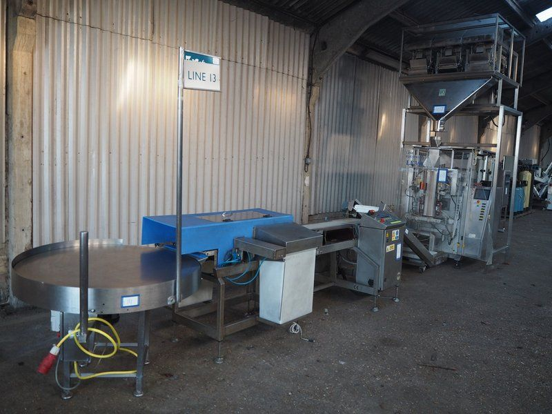 Kombination: Easiweigh / Line Equipment / Loma Systems Verpackungslinie.