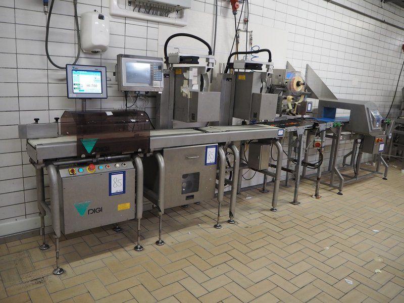 Kombination: Wiege- und Etikettierlinie Digi Europe LTD / Loma Systems