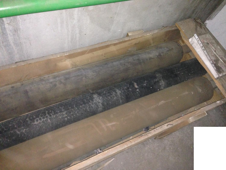 Zylinder aus Stein und Stoffe für Gerbereimaschinen verschiedener Größen