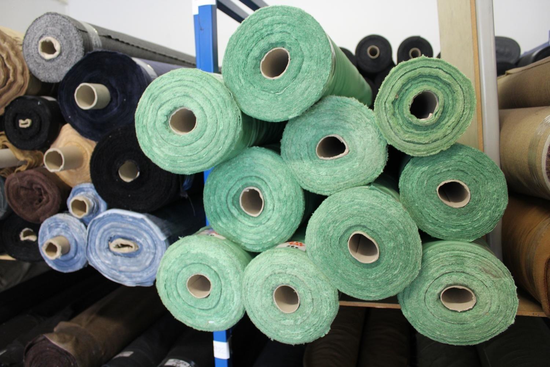 Wolle und Polyestergewebe