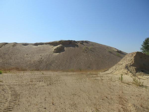 Alluvialer Steinbruchsand