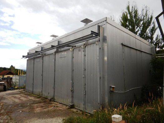 Mühlböck-Trockenkammer ca. 12.80 m x 8 x 4 m Falttor-System - Abbau: bis 01/2020