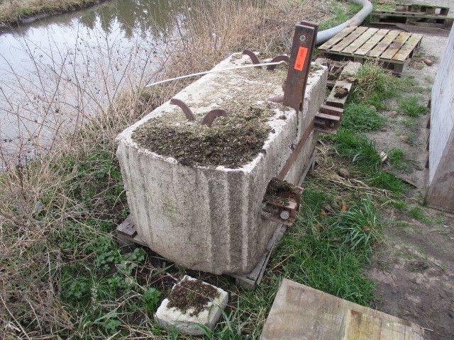 Heckgewichtsstein aus Beton