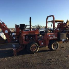 1991 Ditch Witch 5020 Gummireifen Vibrations Kabel Pflug / Grabenzieher (113972)