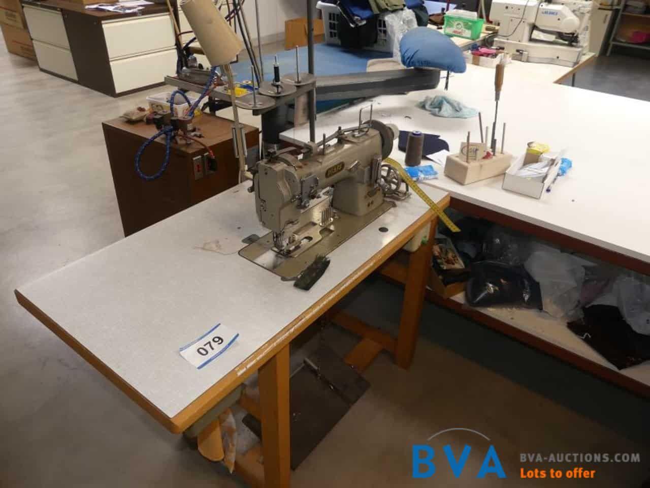 Schnell-Nähmaschine Pfaff mit Einfasseinrichtung für Lederborten
