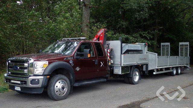 Ford F550 4x2 LKW Anhänger (Kran) + Mähauflieger mit Rampen - 16