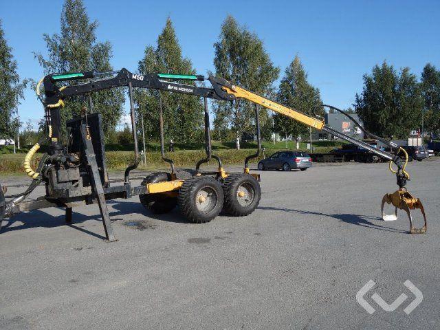 Moheda 121-4WD Forstanhänger mit Kran Moheda M50 - 17