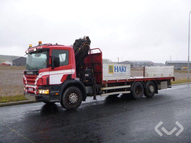 Scania P94GB NA260 6x2 * 4 Pritschenpritschen (Kran) - 02