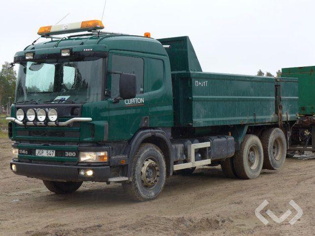 Scania P114GBNZ380 6x2 Kassettenwagen mit Kipper - 00