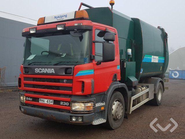 Scania P94DB NB230 Rechtslenker 4x2 Müllwagen (Seitenlader) - 00