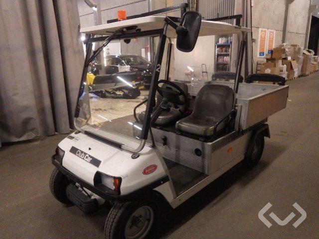 Club Car Carryall 2. Elektroauto mit Kippklappe
