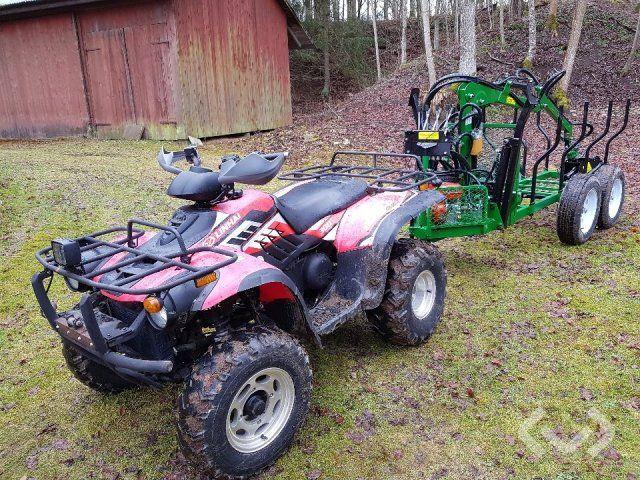 Linhai & amp; Cellular 300 ATV Quad & amp; 21-SV27 Waldanhänger - 19