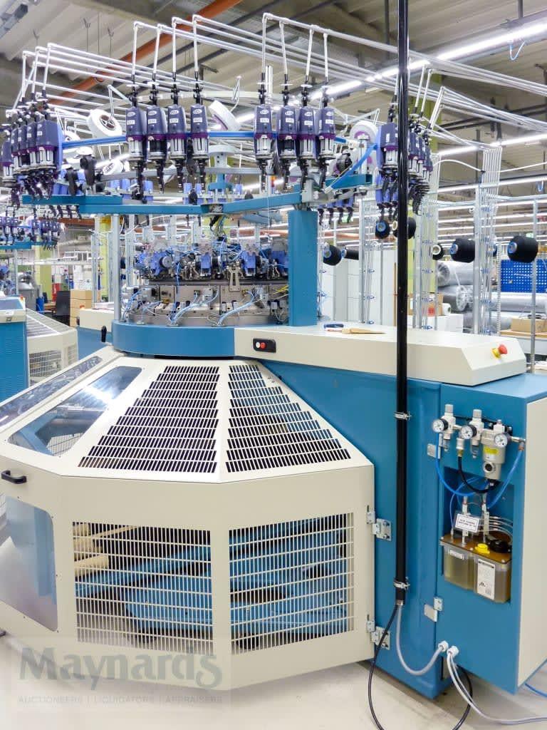 SANTONI MEC-MOR CMP 2 Rundstrickmaschine mit offener Kleidungsstücklänge und Rippenrandtrennung
