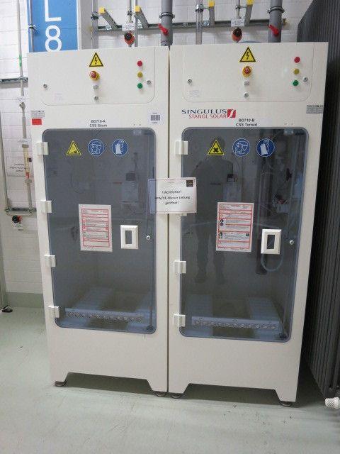 (2) Gasversorgungsschränke - SINGULUS STANGL SOLAR, Neuheit 2011