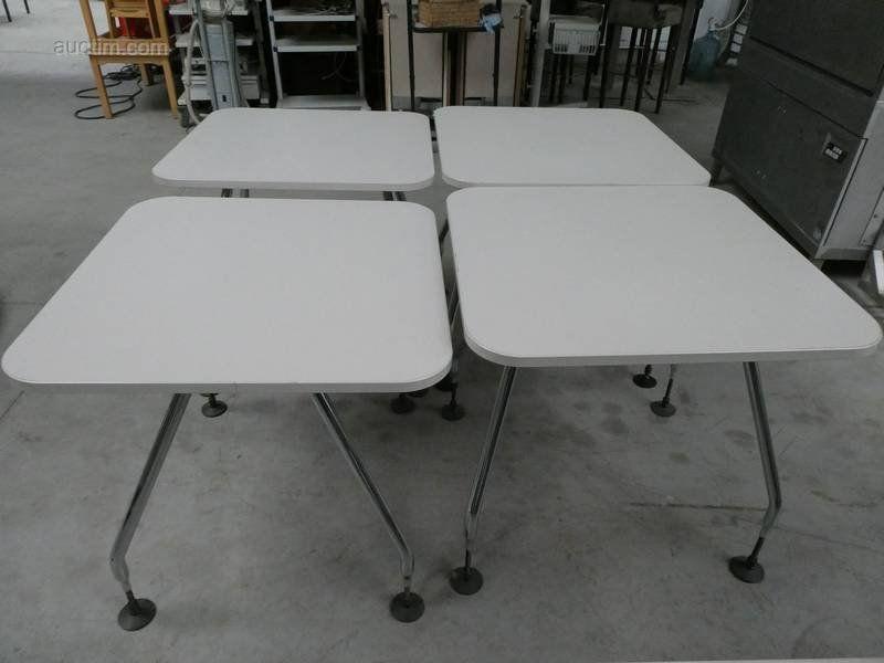 4 Tische, höhenverstellbar