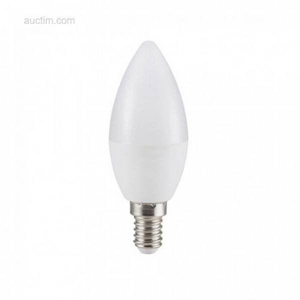 50 x 6 W E14 C37 SMD LED-lamp 6400K - Lichtstrom: