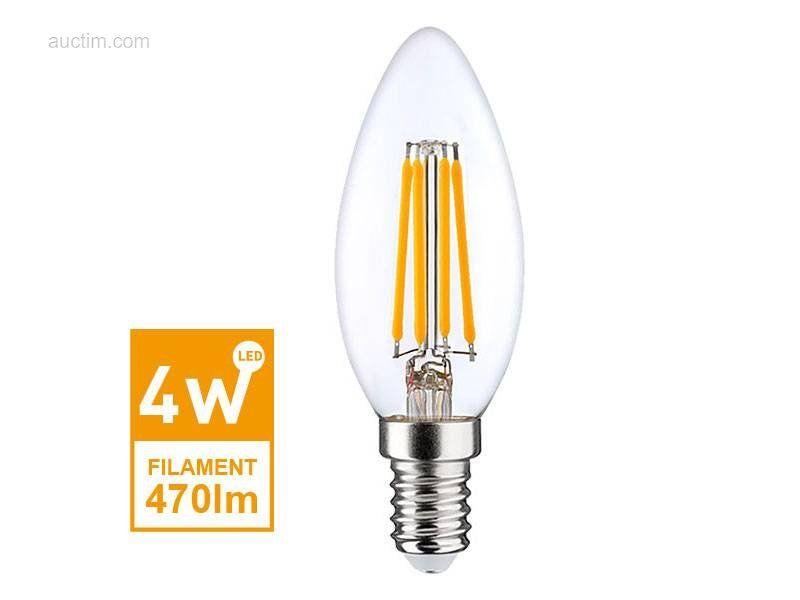 20 x 4 W E14 C35 LED-filament 2700K - Lichtstrom: