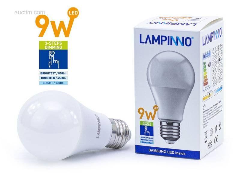 50 x 9 W E27 A60 EIN / AUS dimbare SAMSUNG SMD LED