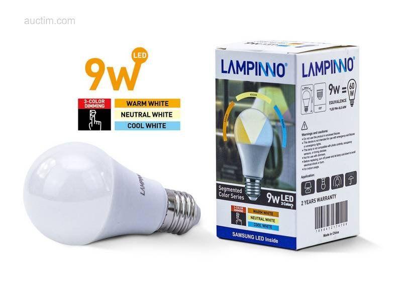 50 x 9 W E27 A60 SAMSUNG SMD LED-Lampen 3 Farben - Leuchtend