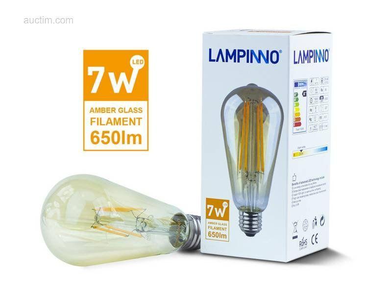 20 x 7 W E27 ST64 LED-Filament 2700K - Lichtstrom: