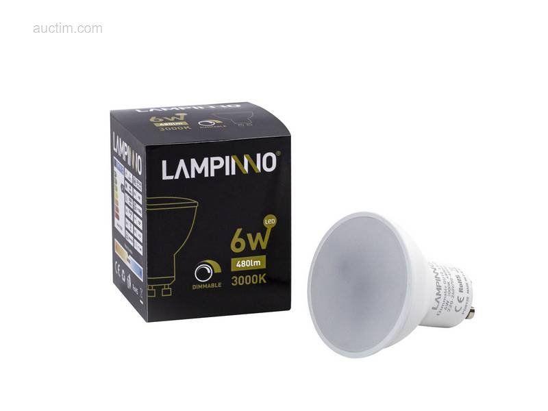 100 x 6W GU10 dimmbare SMD LED Spots 3000K - Leuchtend